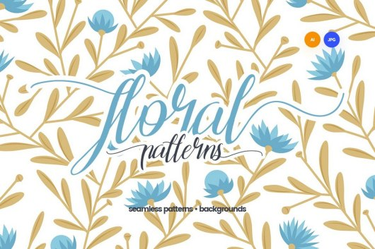 Seamless Floral Patterns & Backgrounds