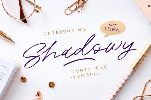 Shadowy Script Cursive Font