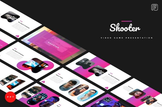 Shooter - Video Game Powerpoint Template