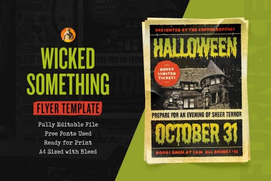 Something Wicked Halloween Flyer Template