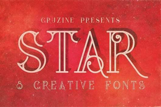 Star - Creative Tattoo Font