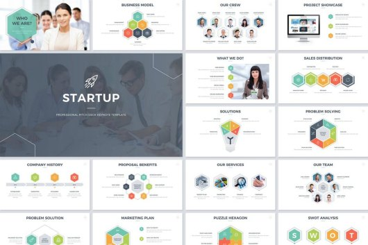 Startup Pitch Deck Keynote Template