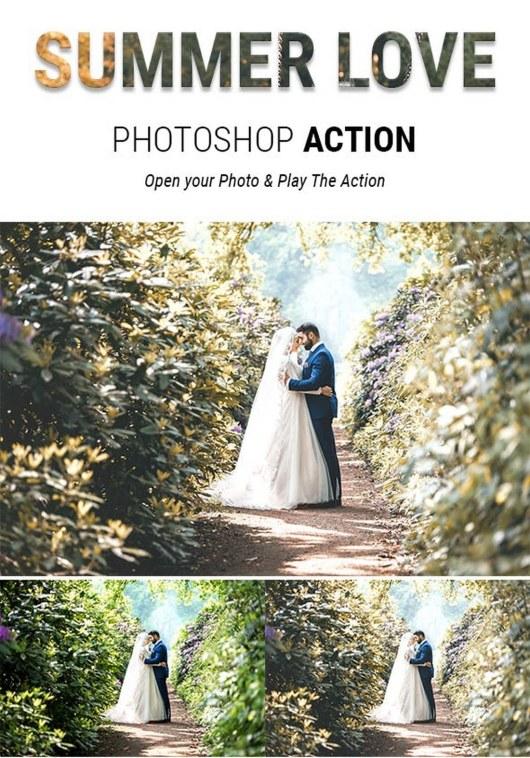 Summer Love - Romantic Wedding Photoshop Actions