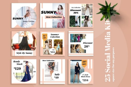 Sunny - Fashion Social Media Kit Templates