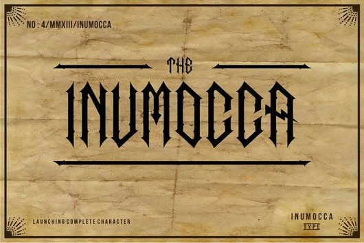 The Inumocca Gothic Font