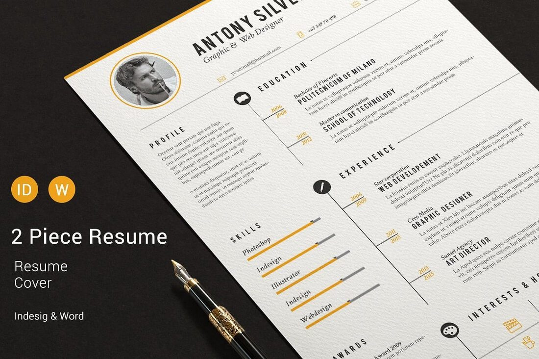 The Best CV & Resume Templates: 50 Examples 26