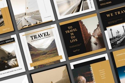 Travel Social Media Template Pack