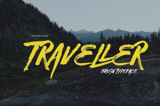Traveller - Brush Typeface