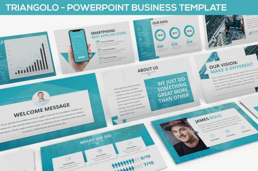 Triangolo - Business & Technology PowerPoint Template