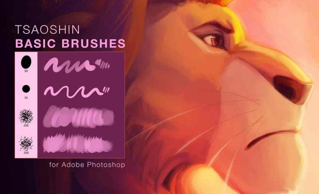 TsaoShin Digital Art Photoshop Brushes