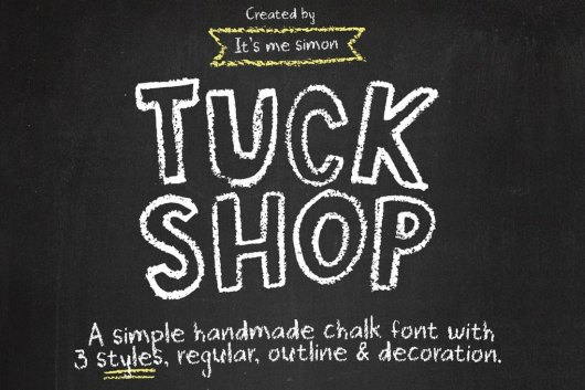 Tuck Shop Handmade Chalk Font