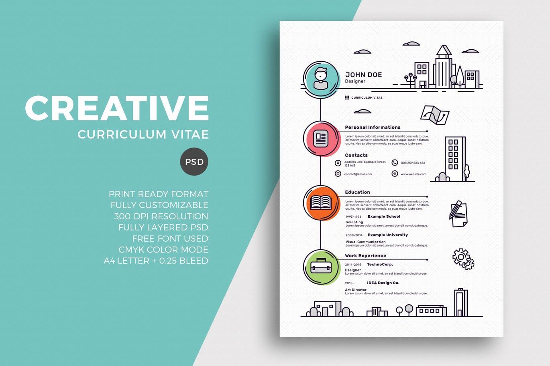 creative academic resume templates free