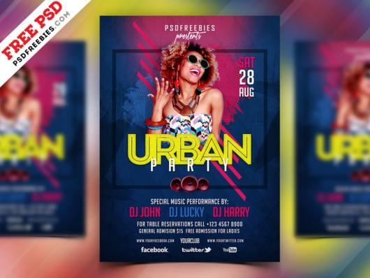 Urban Music Party Flyer & Poster Template