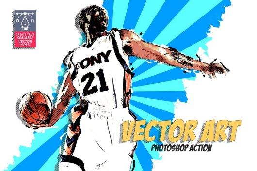 Vector Art - Retro Photoshop Action