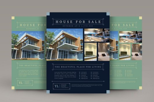 Vintage Real Estate Flyer Template