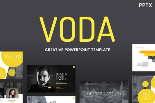 Voda - Creative Cool Powerpoint Template