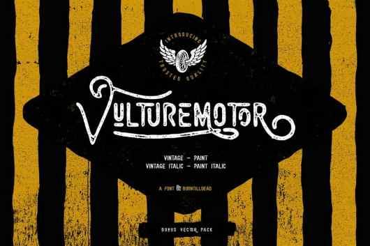 Vulturemotor - Vintage Font For Signs
