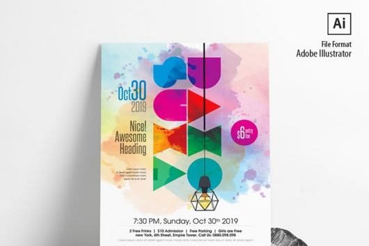 Watercolor Event Poster Template