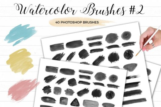 Watercolor Photoshop Brushes Vol.2