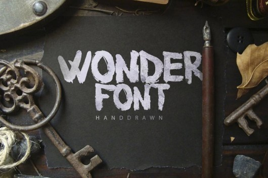 Wonderfont Brush Typeface