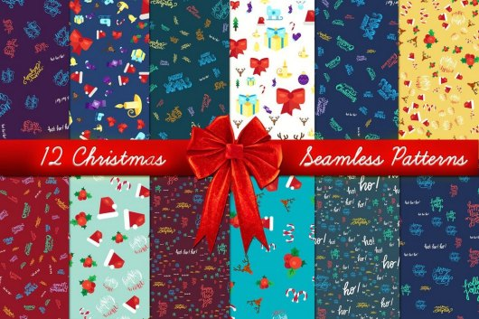 Xmas Seamless Patterns Set