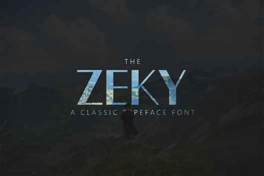 Zeky - Luxury Font For Signs