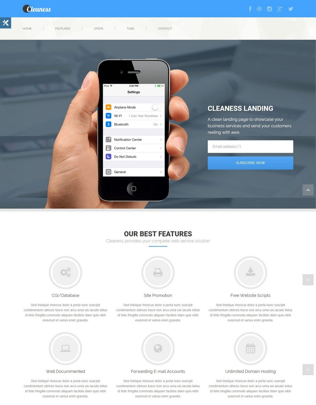 cleanness - 20+ Minimal Bootstrap Templates