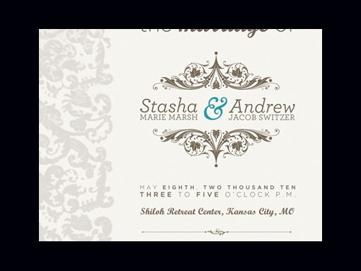 Wedding Invitations See Larger Image Silver And White Combined Blazer Design Unique Shape With Black Tie Formal Designer