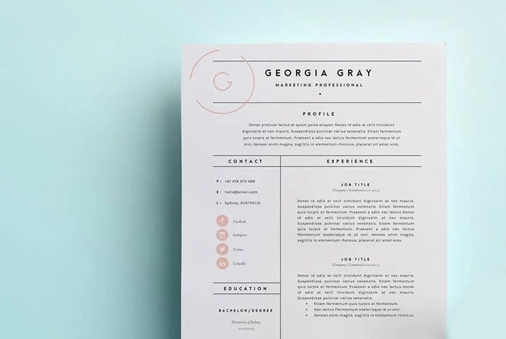example of freelance work on resume