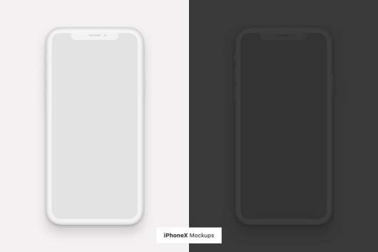 iPhone XS Flat Light & Dark Mockups