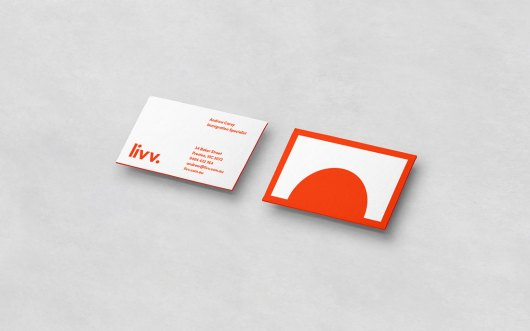 business card font