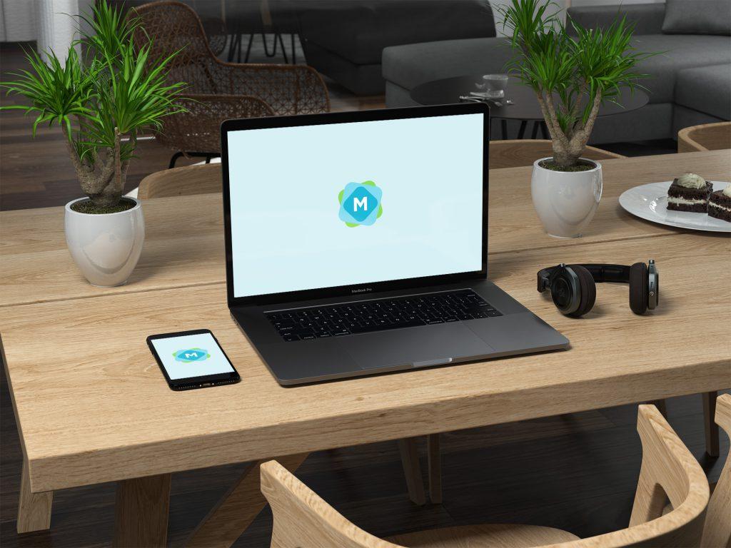 100+ MacBook PSD & Vector Mockups 43