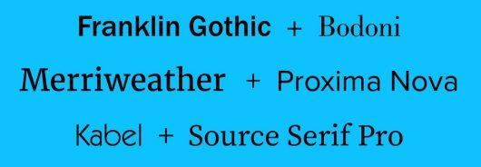 best resume font
