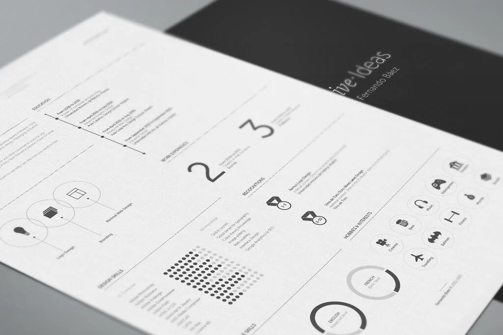 The Best CV & Resume Templates 50 Examples Design Shack