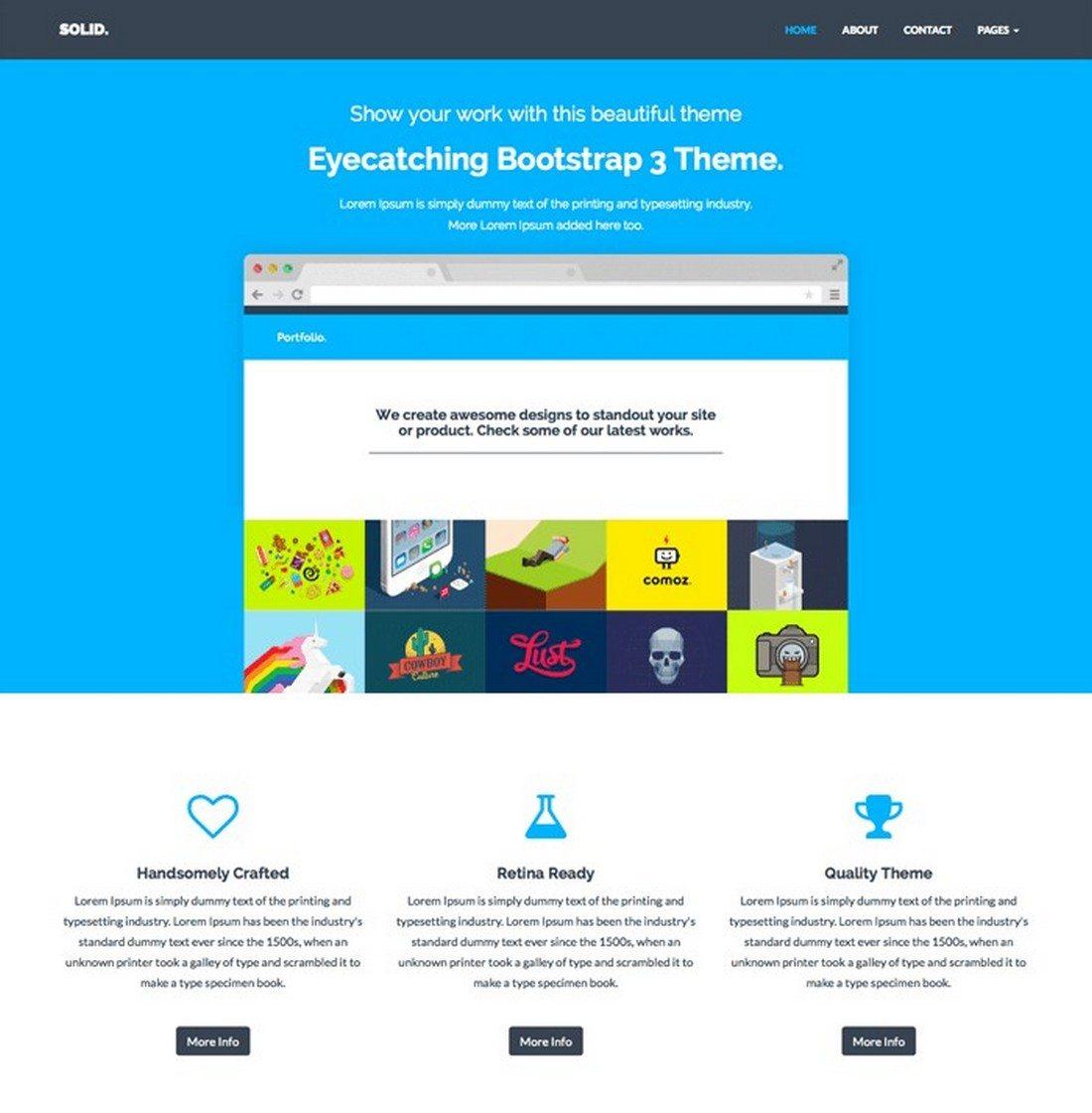 solid - 20+ Minimal Bootstrap Templates