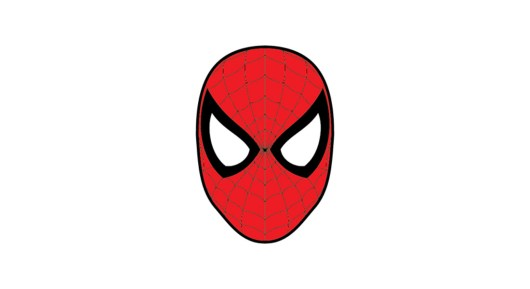 spiderman mask logo template