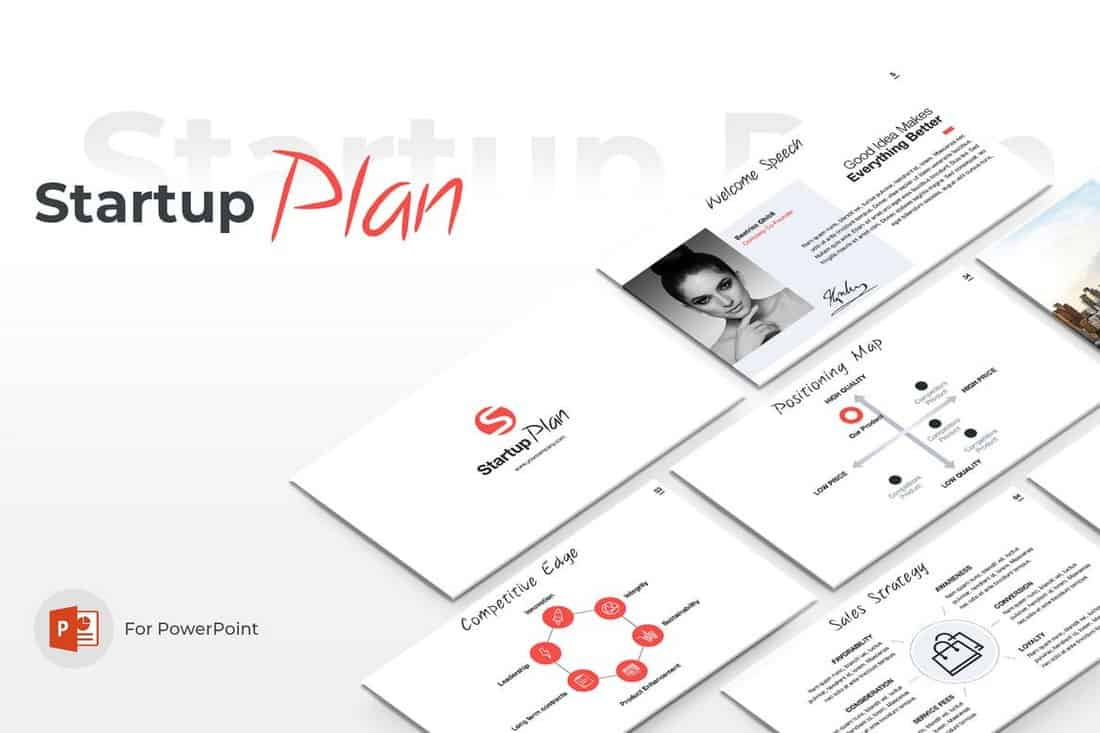startup plan-Startup Pitch Deck Template For PowerPoint