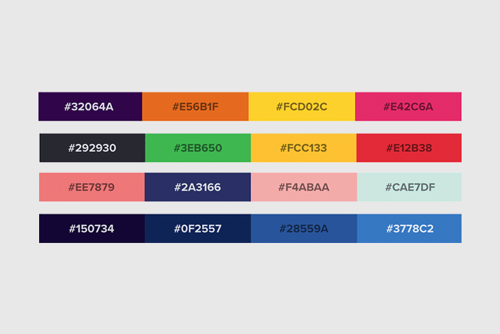 50 best website color