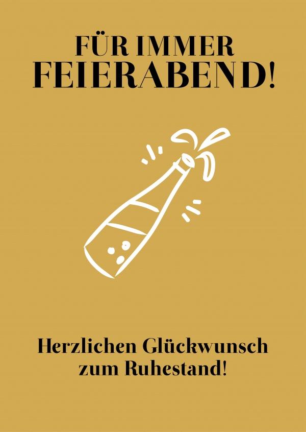 Fr immer Feierabend  Glckwnsche  Echte Postkarten