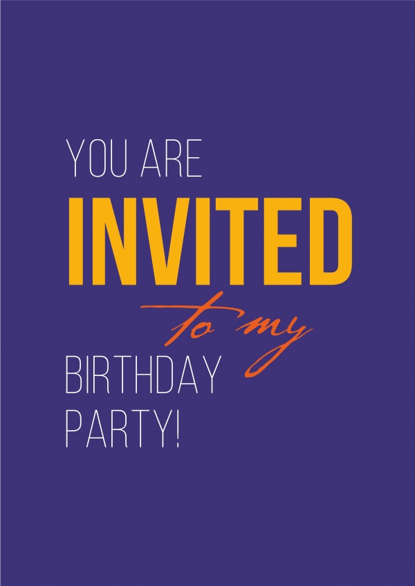 my birthday party invitation cards quotes send real postcards online