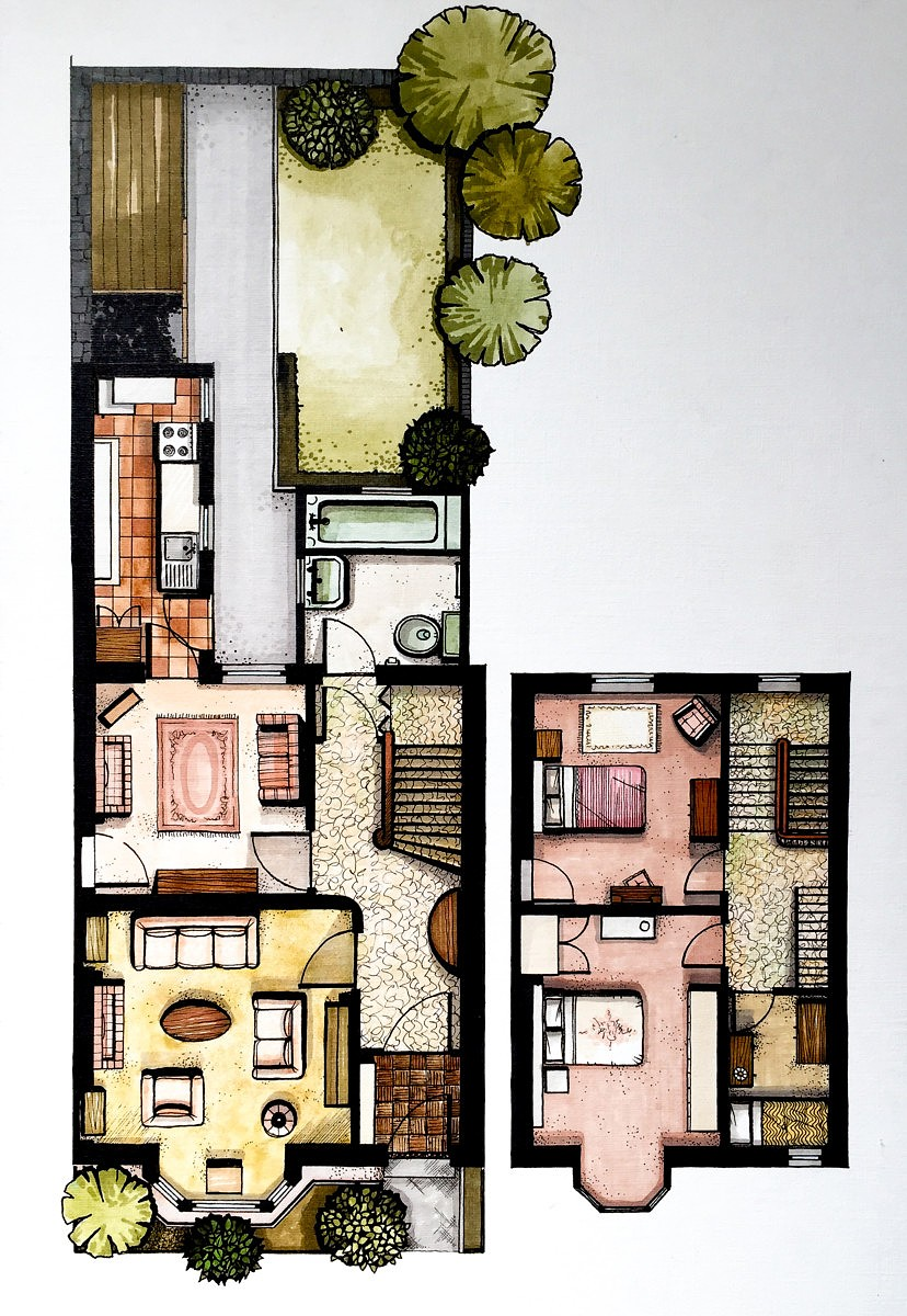 Designsixtynine Rendered Original Floor Plan