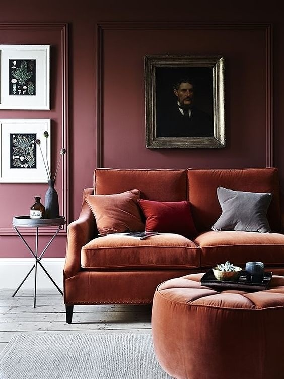 colour inspiration; raspberry and rust
