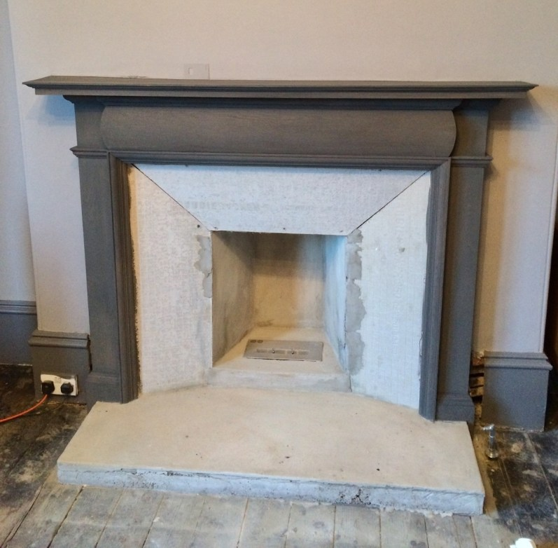 Fireplace makeover; construction