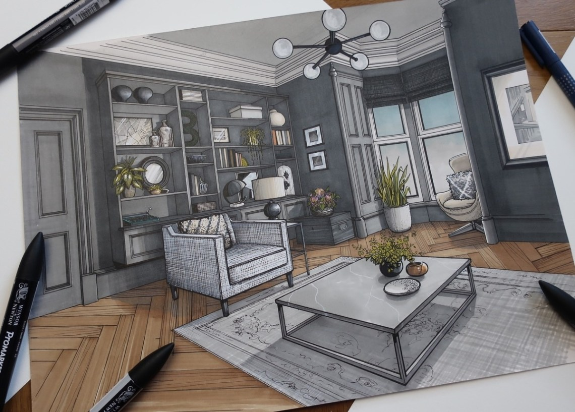 living room plan focal point