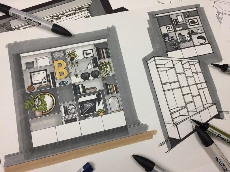 Ikea Billy Bookcase Built-In Hack