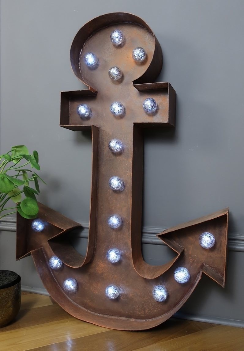 DIY Marquee light up anchor