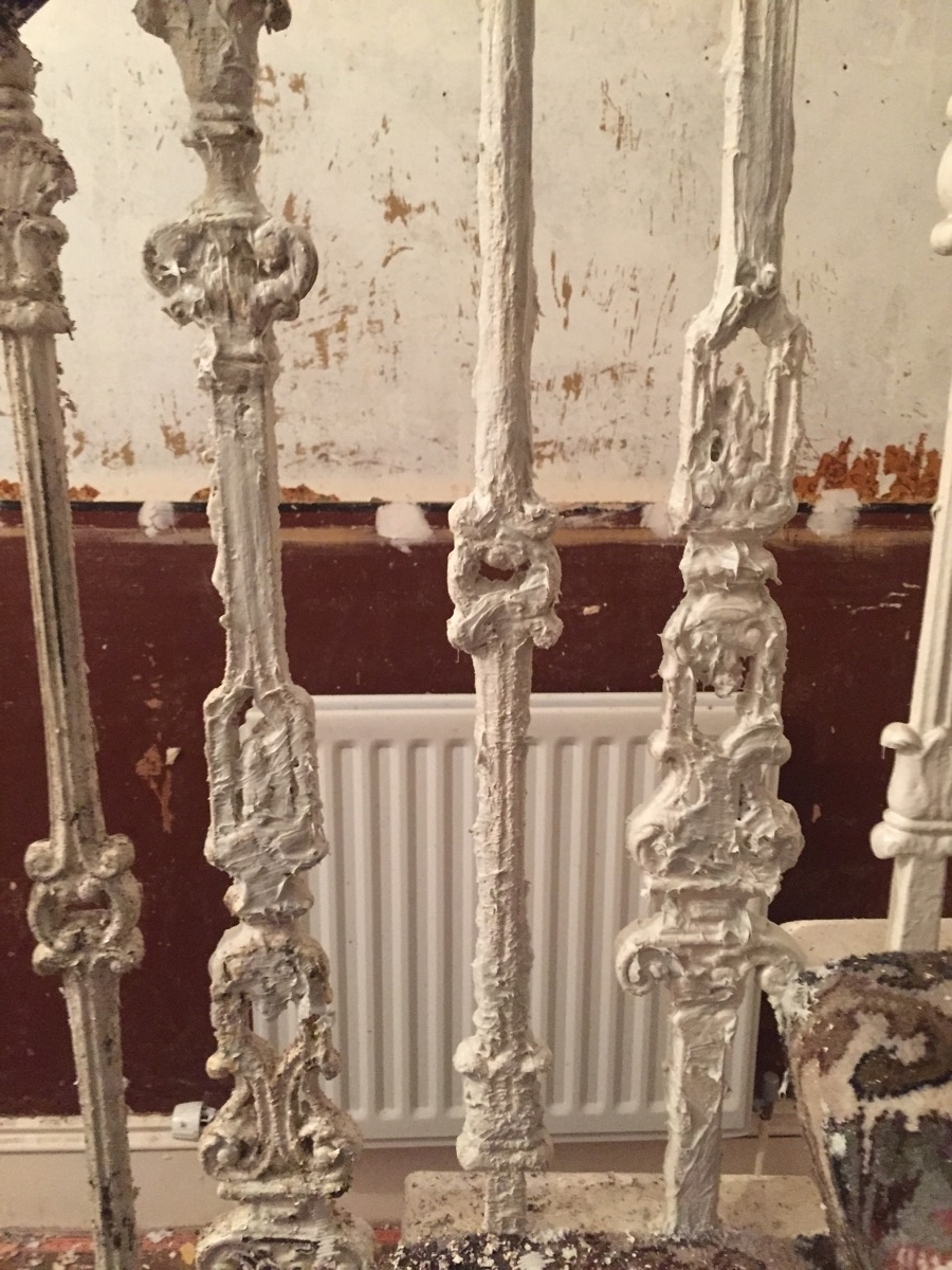 cast iron balustrade paint removal