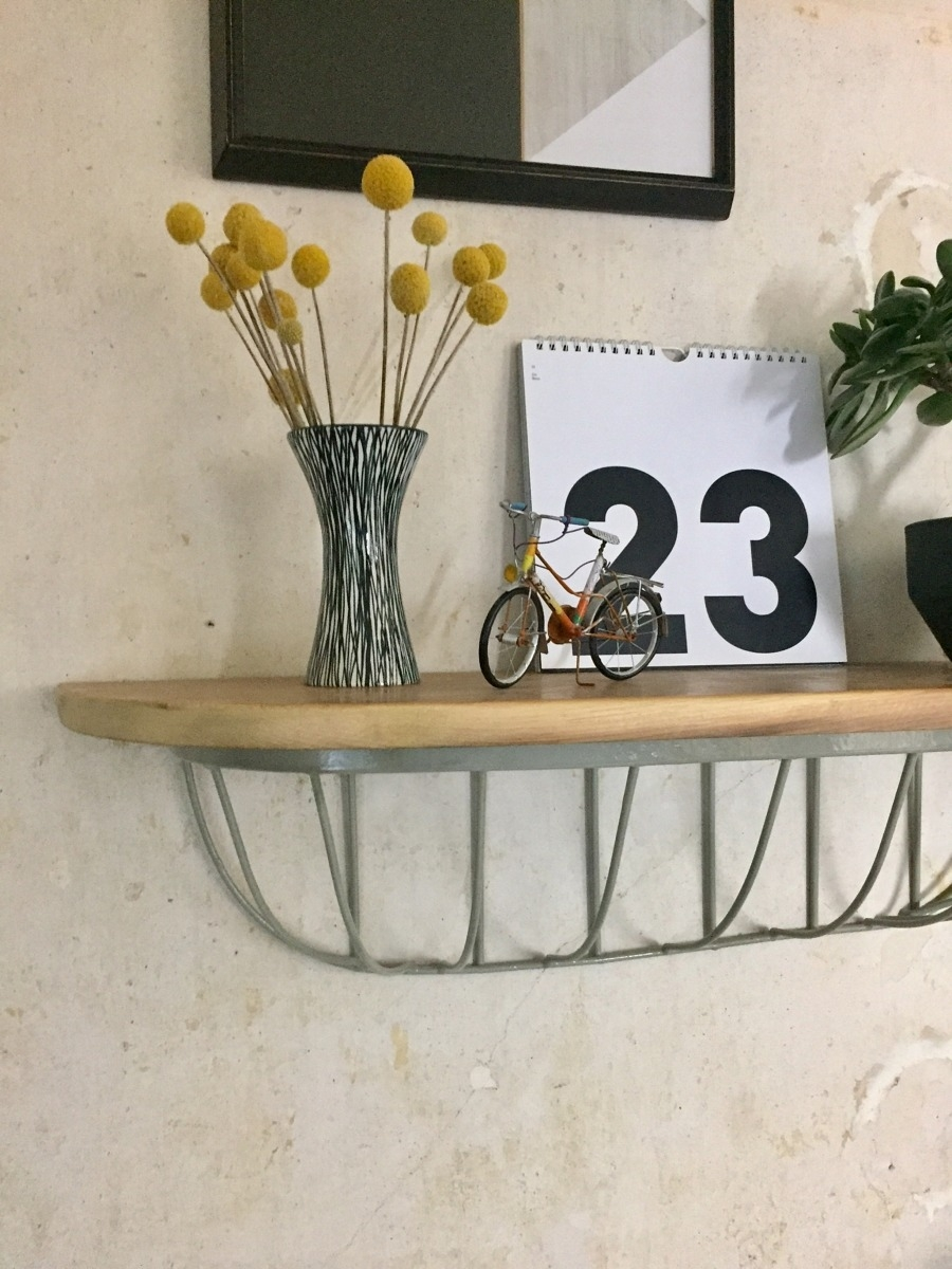 DIY cage shelf