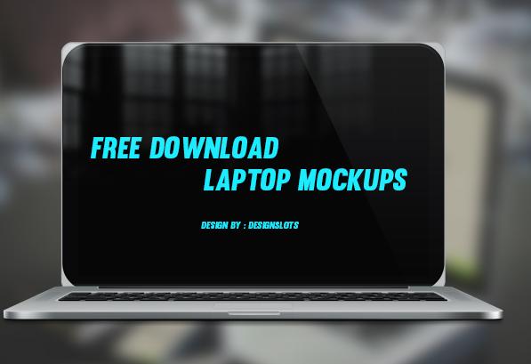 21 free photoshop psd laptop mockups design slots
