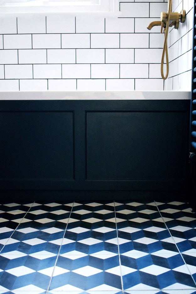 brass-bath-tap-fittings-cube-patterned-encaustic-cement-tiles-hague-blue-bathroom